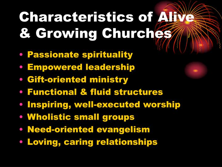 Characteristics of Alive & Growing Churches