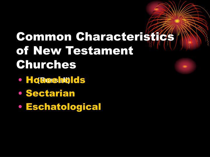 Common Characteristics of New Testament Churches