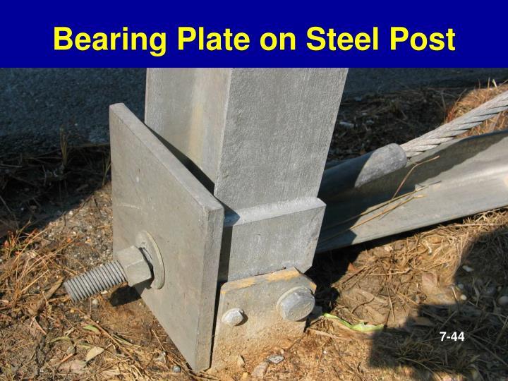 Bearing Plate on Steel Post
