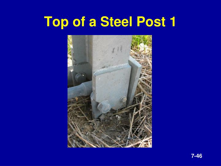 Top of a Steel Post 1