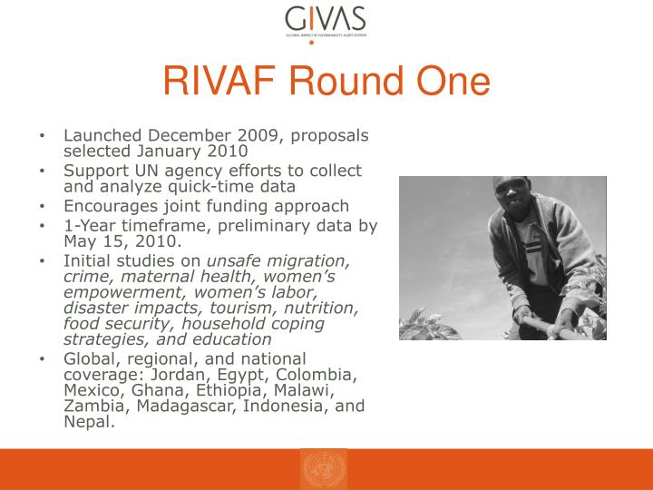 RIVAF Round One