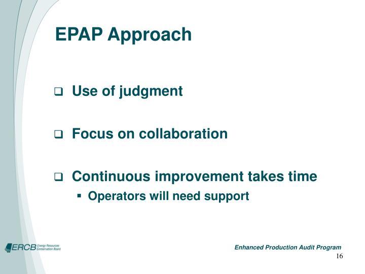 EPAP Approach