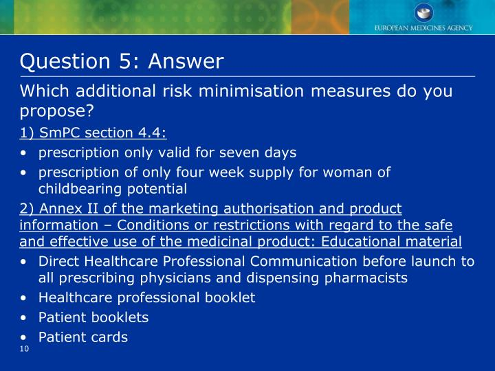 Question 5: Answer