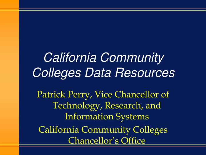 california community colleges data resources n.
