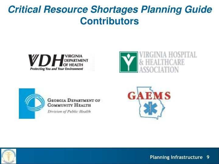 Critical Resource Shortages Planning Guide