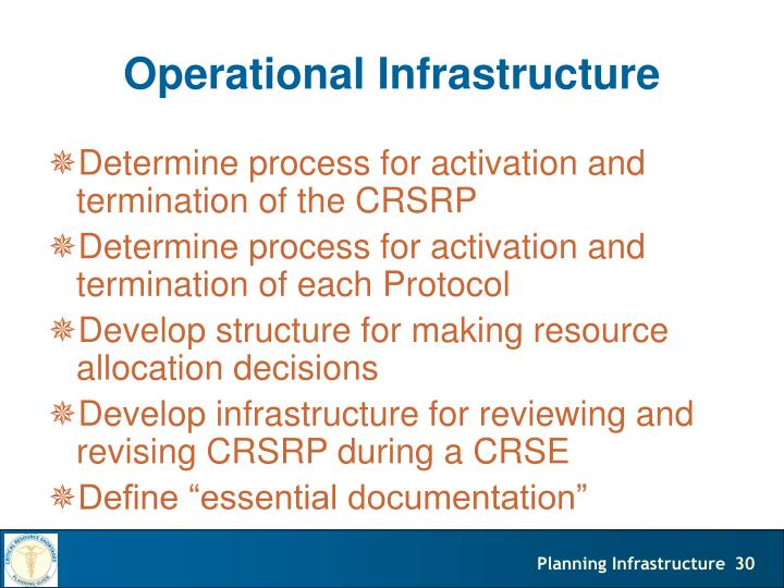 Operational Infrastructure