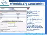 eportfolio org assessment
