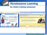 renaissance learning for clicker training resources