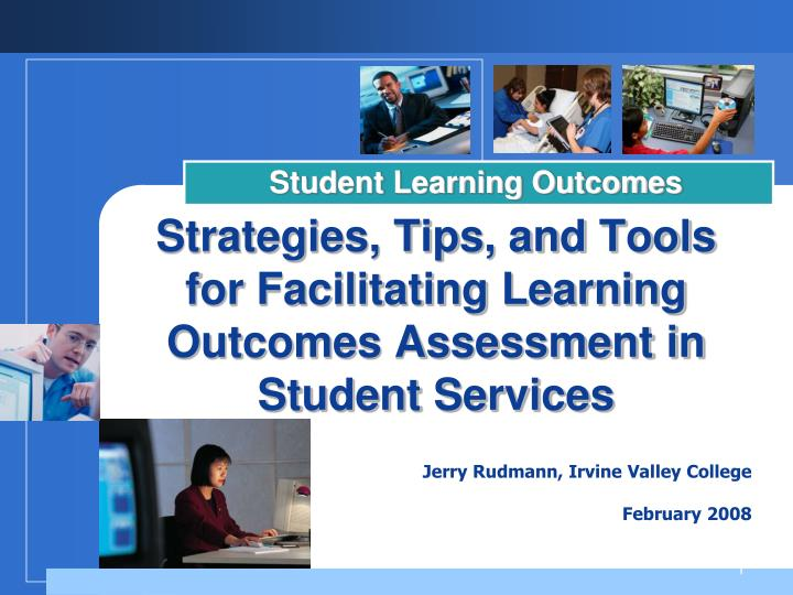 strategies tips and tools for facilitating learning outcomes assessment in student services