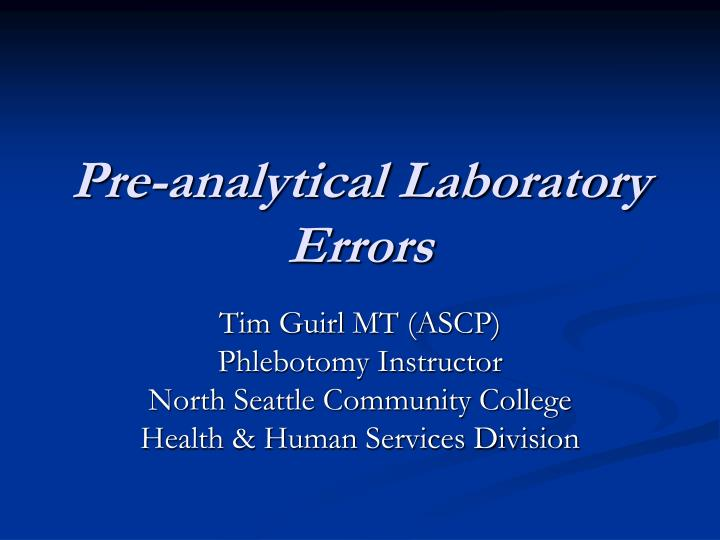 error analysis lab Transcript of calorimetry lab by: effects of the errors the lack of even heating could lead to a lower final data analysis when we burned the food.