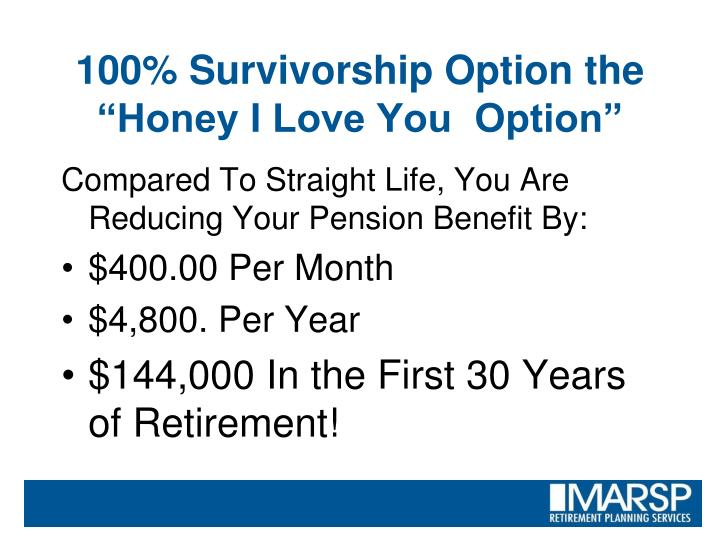 Compared To Straight Life, You Are Reducing Your Pension Benefit By: