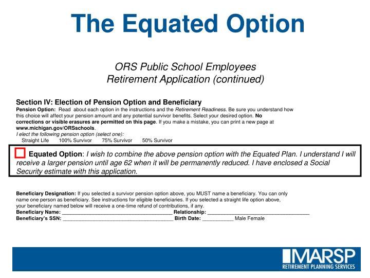 ORS Public School Employees