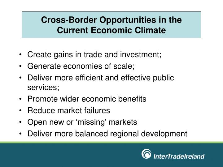 Cross-Border Opportunities in the Current Economic Climate