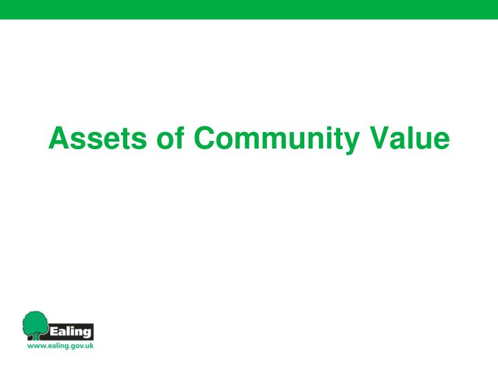 Assets of community value
