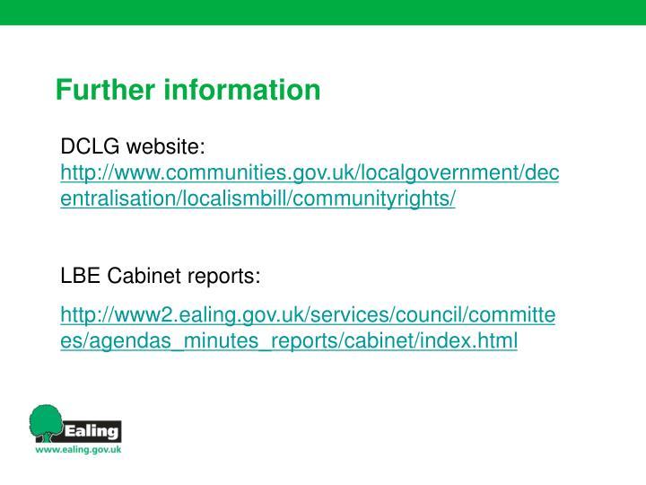 DCLG website: