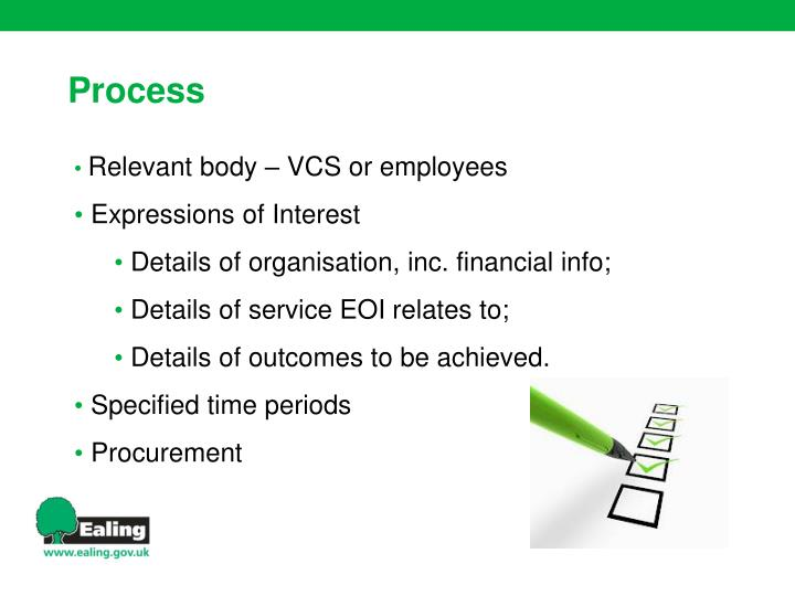 Relevant body – VCS or employees