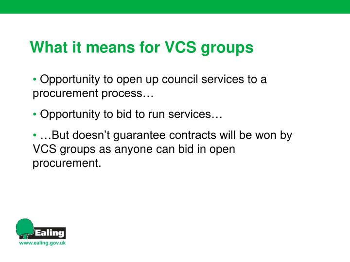 Opportunity to open up council services to a procurement process…