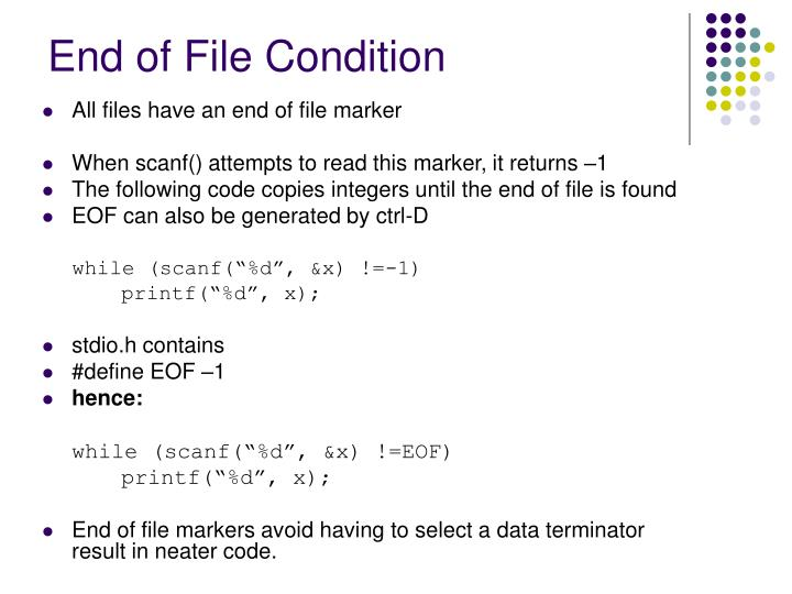 End of File Condition