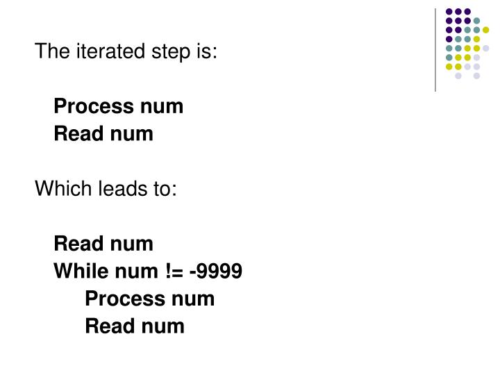 The iterated step is: