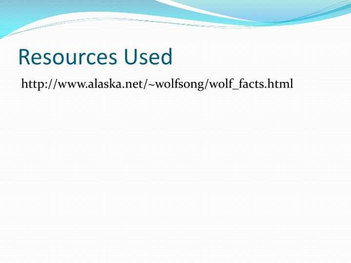 Resources Used