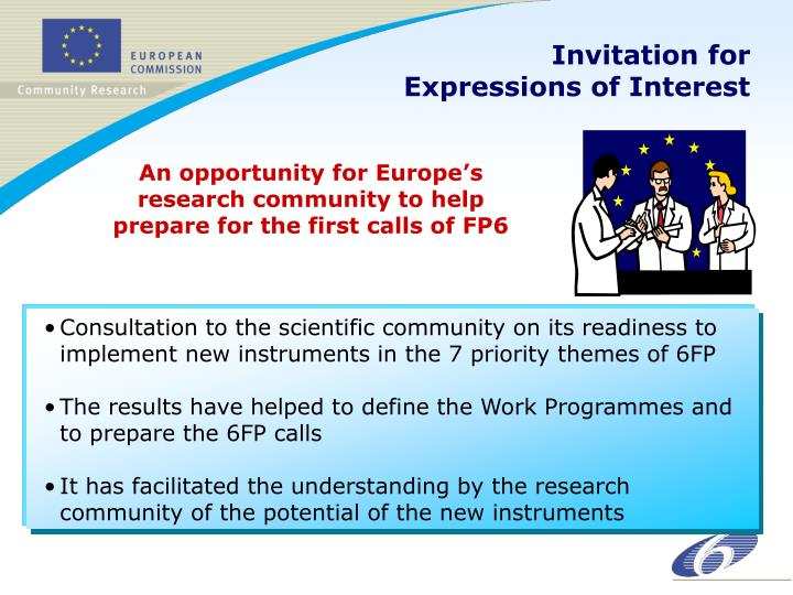 Invitation for Expressions of Interest