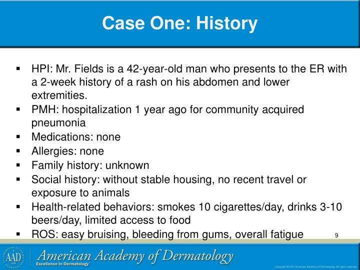Case One: History