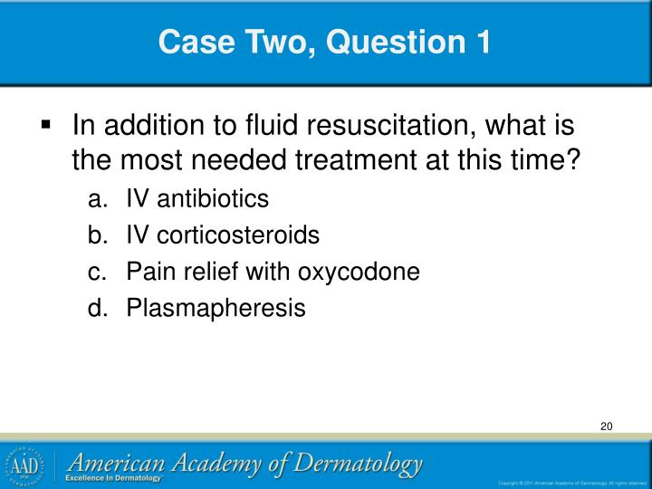 Case Two, Question 1