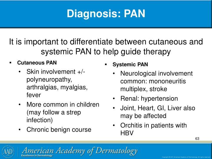 Diagnosis: PAN