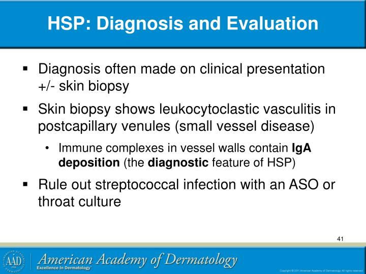 HSP: Diagnosis and Evaluation