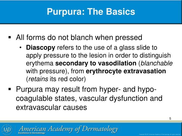 Purpura: The Basics