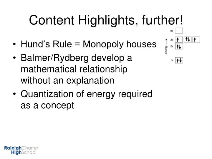 Content Highlights, further!