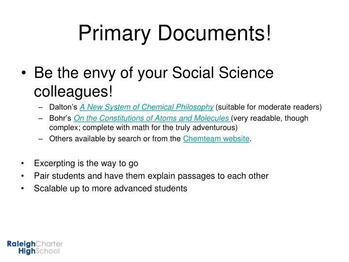 Primary Documents!