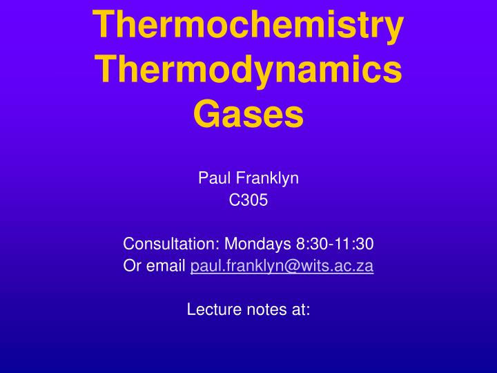 thermochemistry thermodynamics gases n.