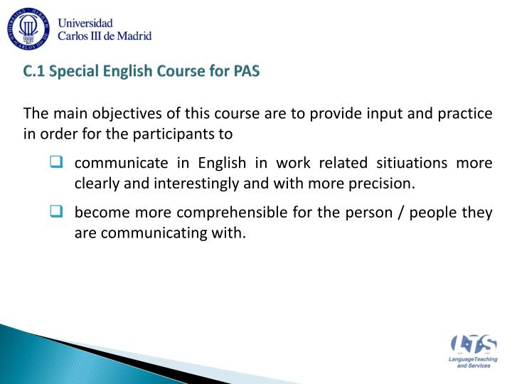 C 1 special english course for pas2