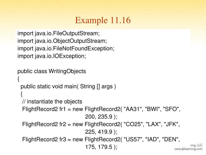 Example 11.16