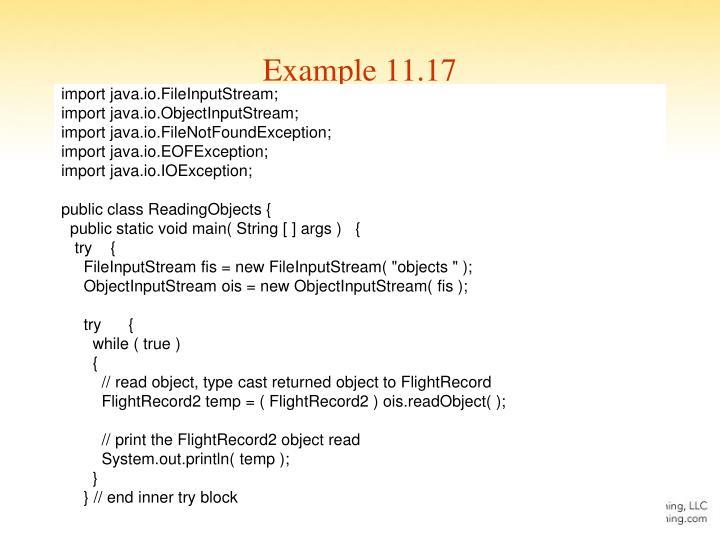 Example 11.17