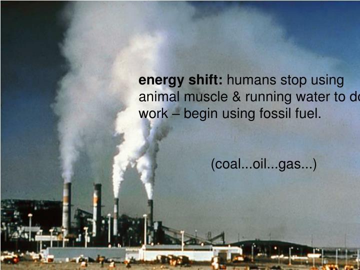 energy shift:
