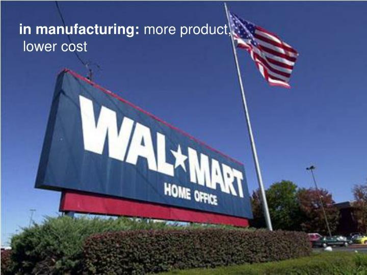 in manufacturing: