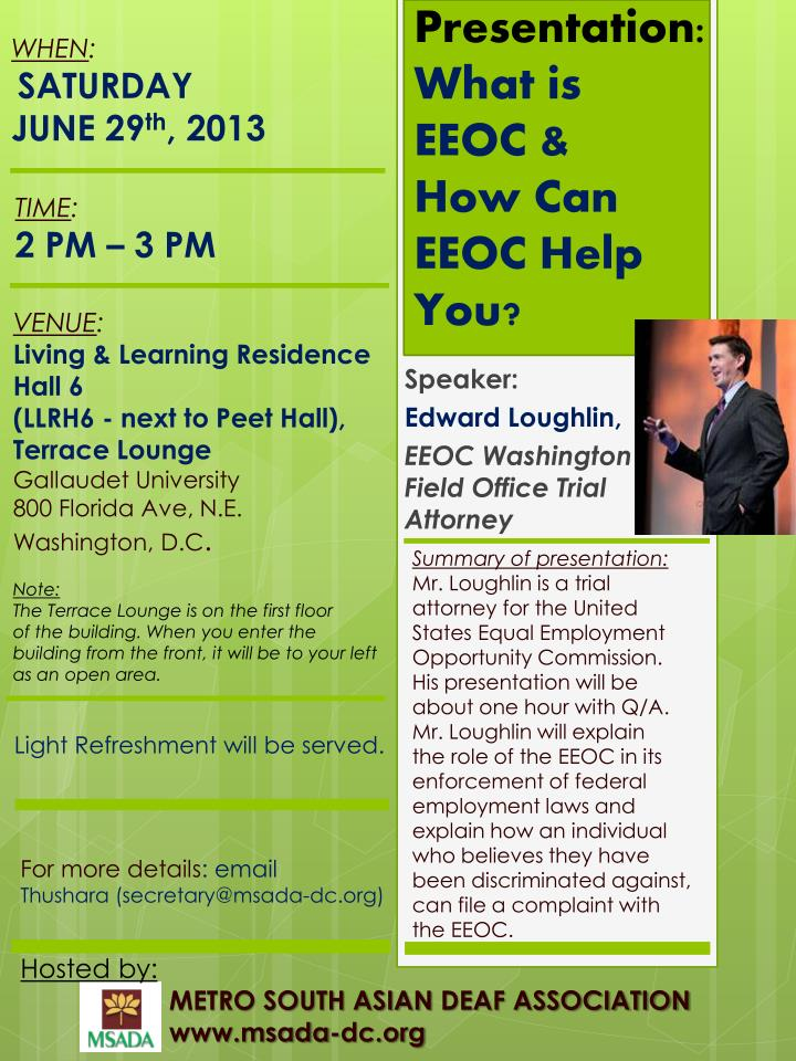 presentation what is eeoc how can eeoc help you