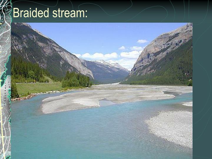Braided stream: