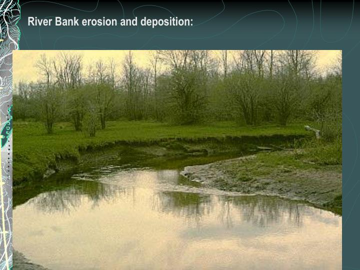 River Bank erosion and deposition: