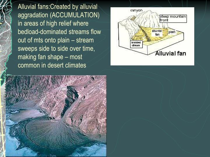 Alluvial fans:
