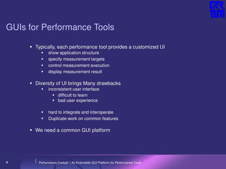 GUIs for Performance Tools