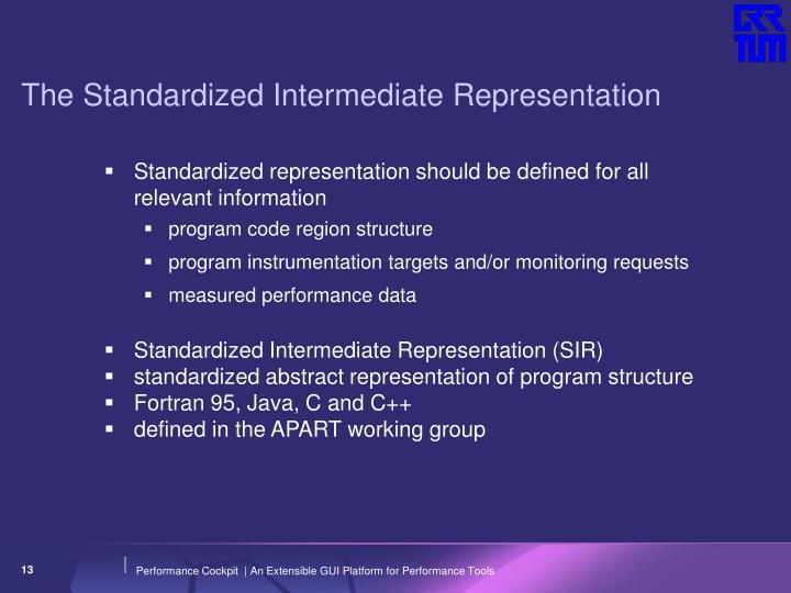 The Standardized Intermediate Representation
