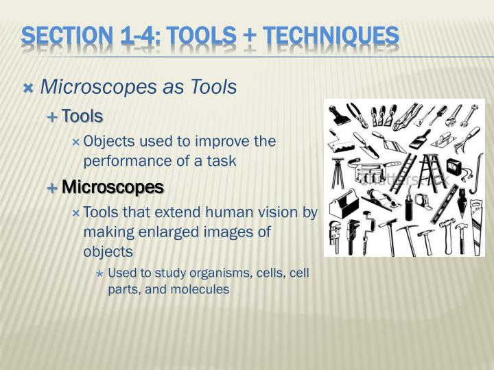 Microscopes as Tools