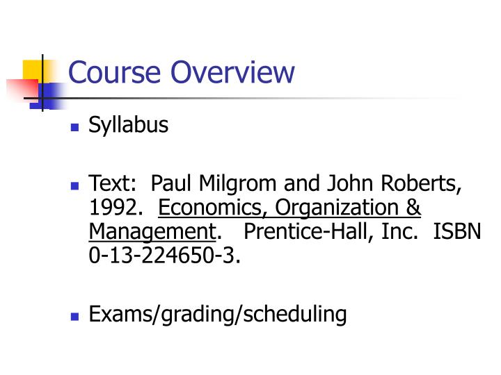 course outline managerial economics jun Bapa 550 - managerial economics master of management (dual degree) course outline - 3 - the final exam will be held during the exam week and will be two hours long for a total of 100 points.