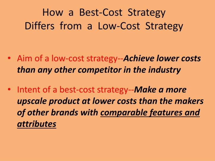 How  a  Best-Cost  Strategy