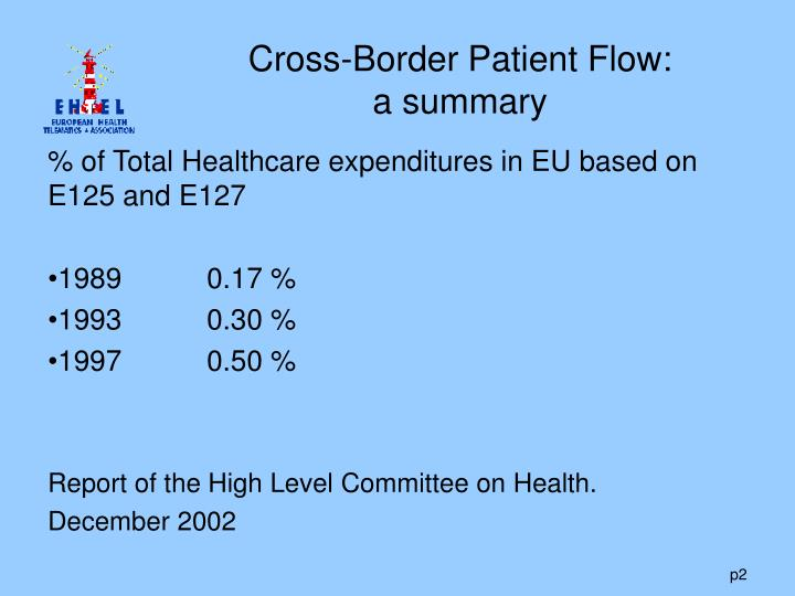 Cross border patient flow a summary