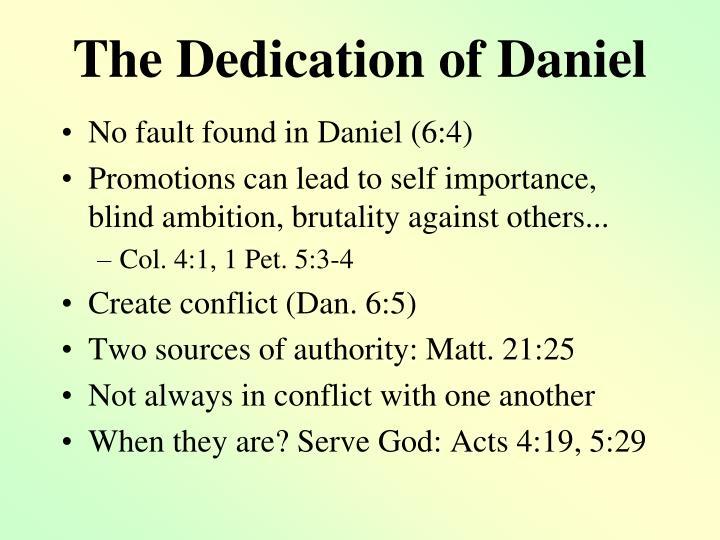 The Dedication of Daniel