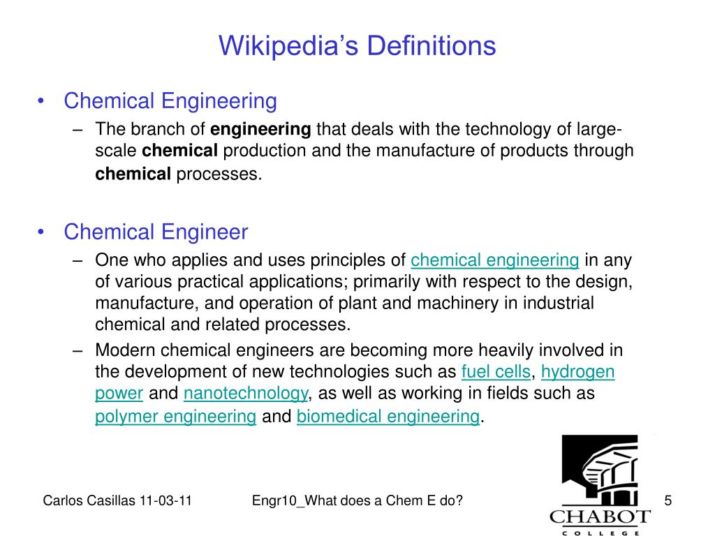 PPT - What does a Chem E do? PowerPoint Presentation - ID